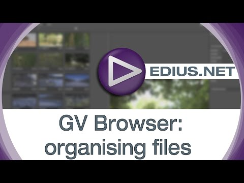 EDIUS.NET Podcast - GV Browser organising files