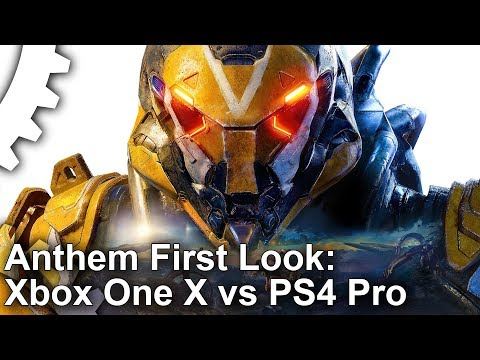 [4K] Anthem Console First Look: Xbox One X/ PS4 Pro Head-To-Head!