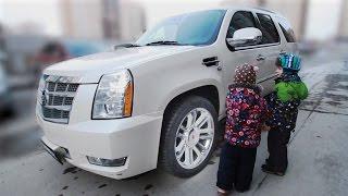 Дети и машина. Мальчик едет покупать Кадиллак Эскалейд. МанкиТайм