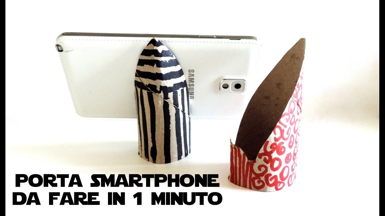 Riciclo creativo porta smartphone con tubi di cartone for Tubi cartone