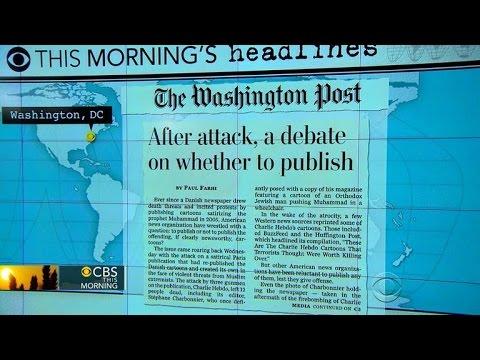 Headlines: How American newspapers are handling Charlie Hebdo cartoons
