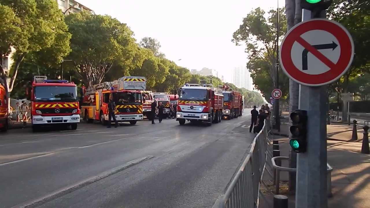 Arriv e des sapeurs pompiers des bouches du rhone 13 sur for Chambre de commerce bouches du rhone