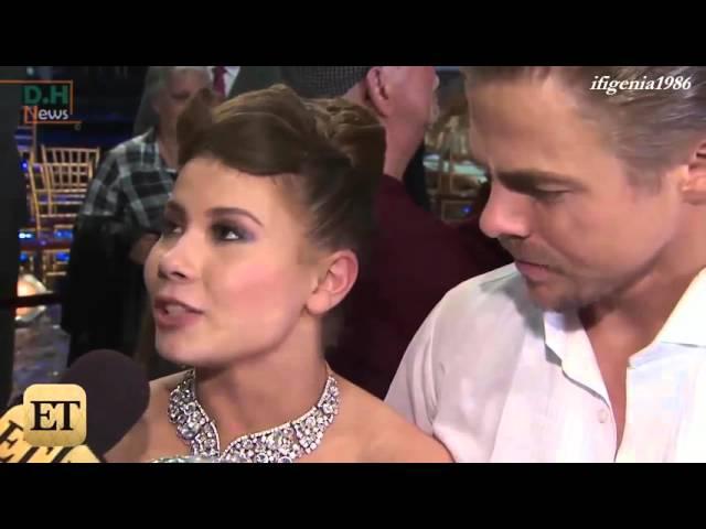 Bindi Irwin & Derek Hough - Post win interviews - Season 21 - DWTS