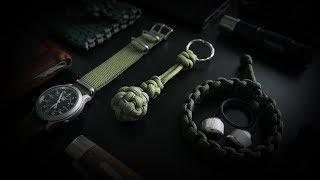 How To Make A Tiny Globe Knot Key Chain | Stitched Globe Knot Tutorial