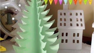 DIY. Новогоднее украшение. Пушистая елочка на стол. Елочка. Как украсить новогодний стол.