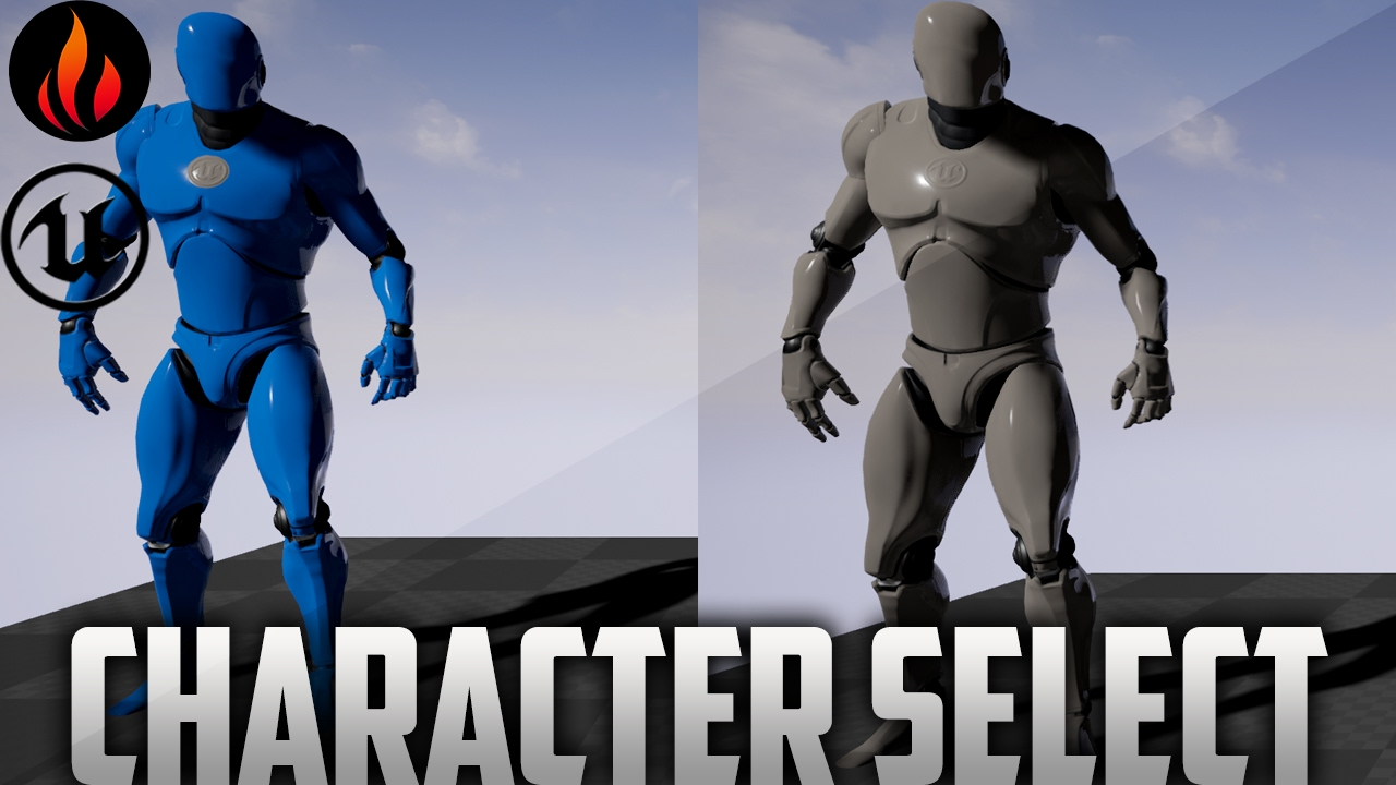 Character Design Unreal Engine 4 : Unreal engine character select youtube