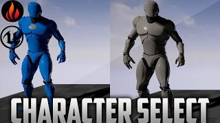 unreal Engine 4 - Character Select