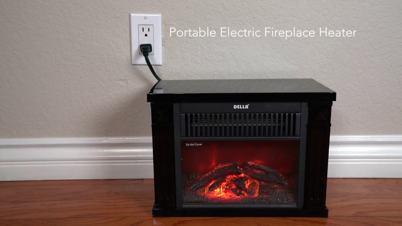 Part# 050-HA-50090 This is a cute and small electric fireplace that is perfect for any work space or home. It can accent your home and work decor while provi...