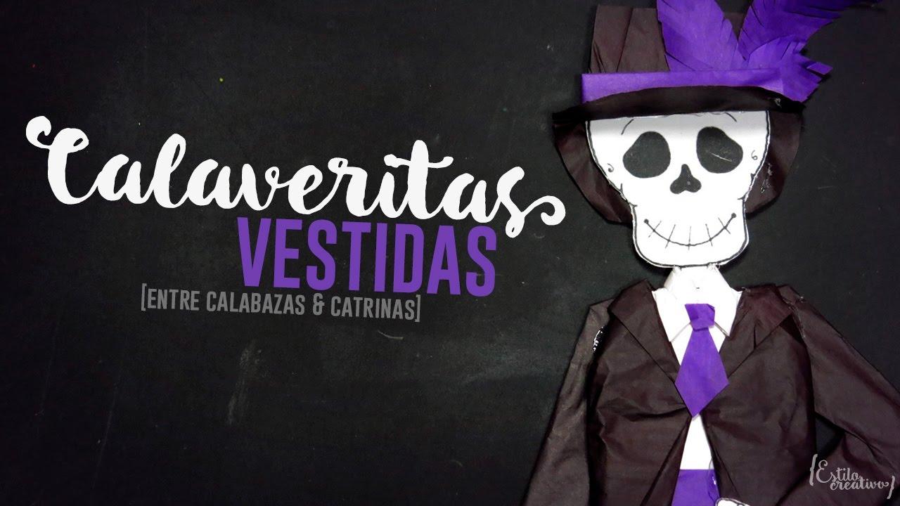 Calaveras Vestidas Catrín Entre Calabazas Y Catrinas 3