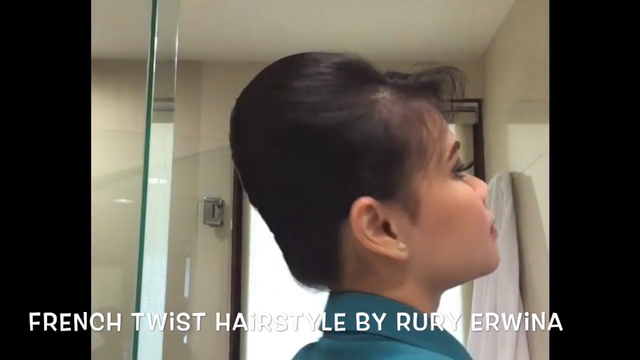 French Twist Hairstyle Tutorial Sanggul Pramugari By Rury