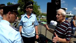 Омск. 8 июля 2018. После митинга за отставку правительства.
