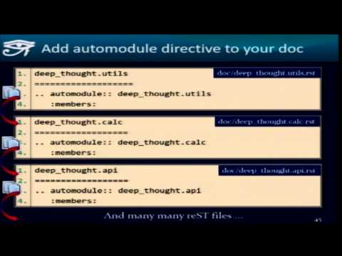 Takayuki Shimizukawa - Sphinx autodoc: automated API documentation
