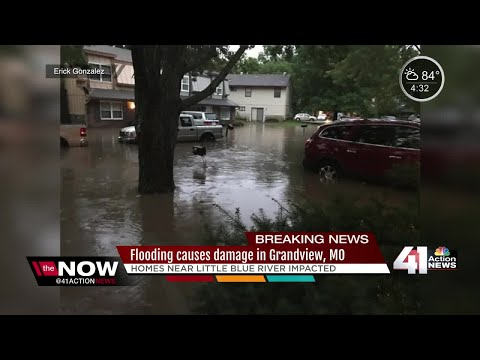 Flooding damages homes near Little Blue River