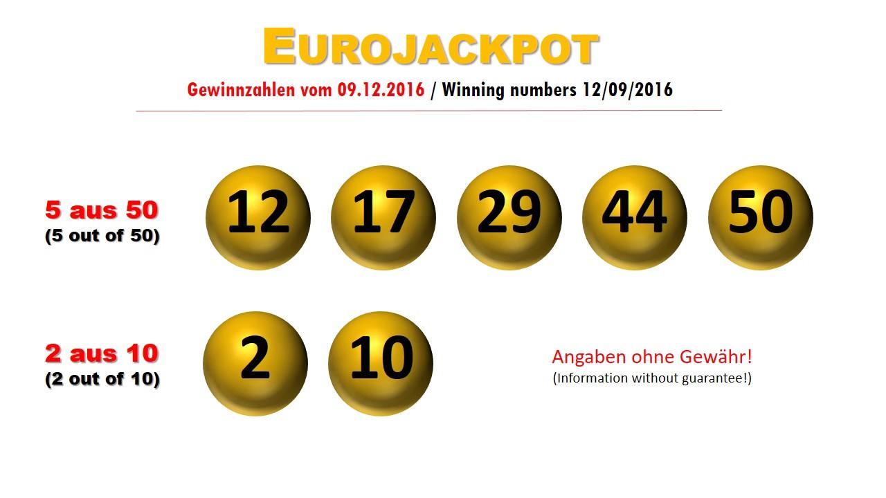 Eurojackpot Letzte Ziehung