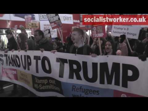 Weekend of protests against Donald Trump hits London