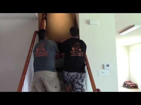 How to move a gun safe upstairs by Rescue Moving Services in Flower Mound,TX