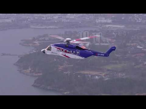 Bristow Group Flies a Sikorsky S-92® Helicopter Over the North Sea