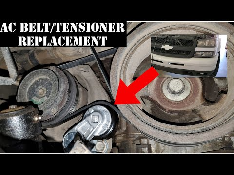 How to replace AC Belt/Tensioner on 2005 Chevy Silverado