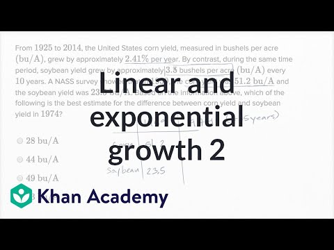Linear And Exponential Growth — Harder Example | Math | New SAT | Khan Academy