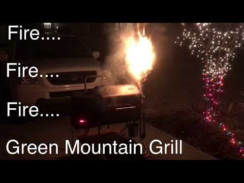 Fire Davy Crockett Green Mountain Grill GMG Grease Fire