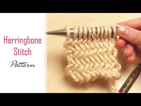 How To Knit Herringbone Stitch Pattern Chevron Texture Knitting