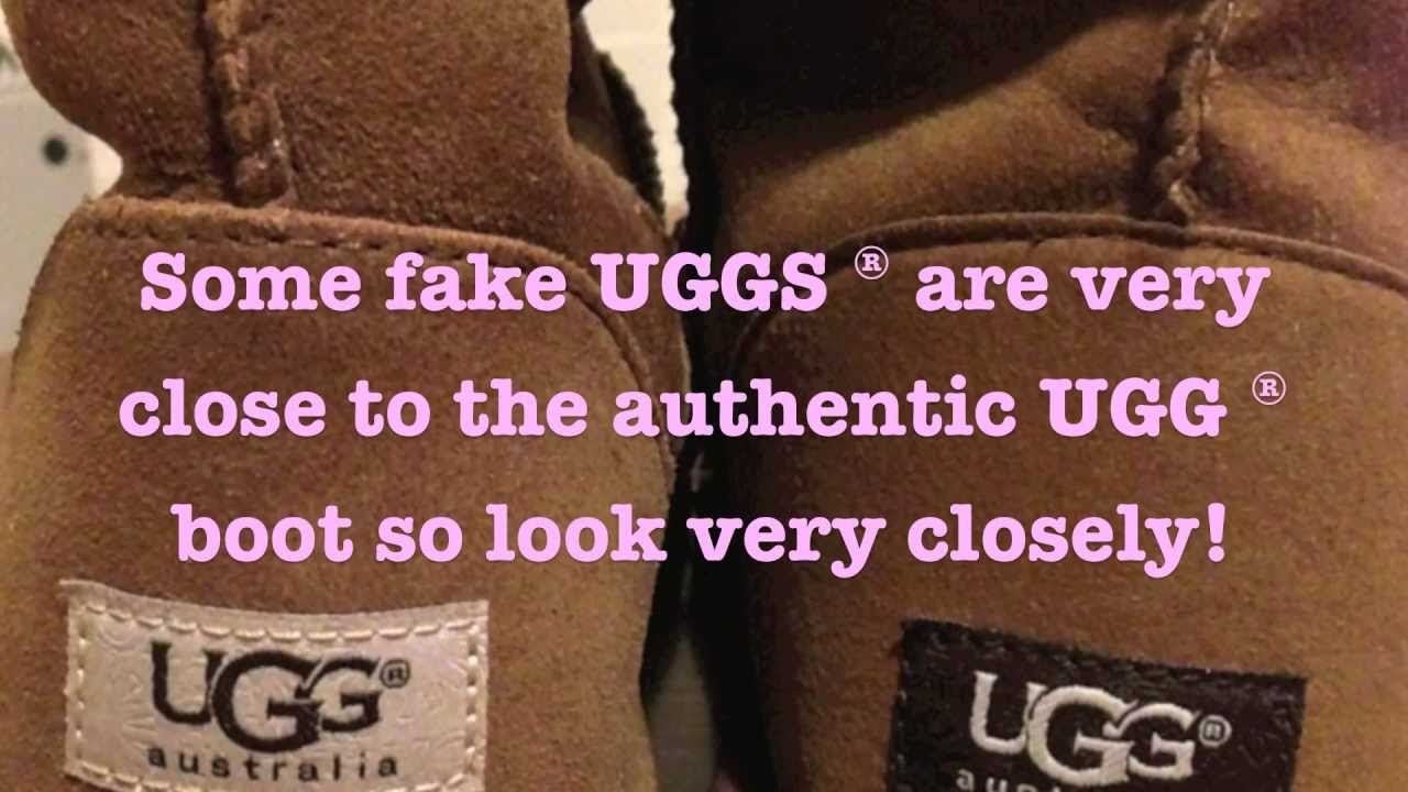 how to tell if fake uggs