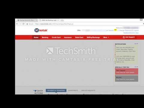 kotak net banking demo