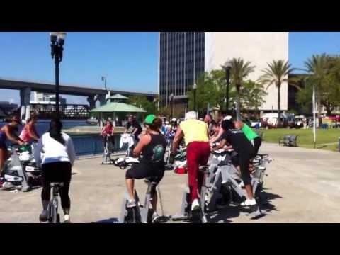 Spinning Class St. Johns River Jacksonville FL April 2013