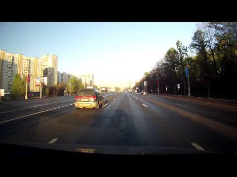 Roads of Russia Moscow Kutuzov pr -- Дороги России Москва 9 мая Садовое- Кутузовский- МКАД