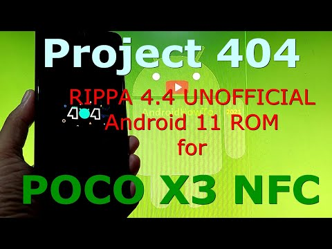 Project 404 RIPPA 4.4 UNOFFICIAL for Poco X3 NFC (Surya) Android 11