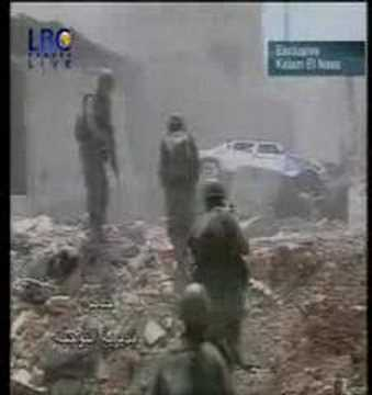 Lebanese army during combat in Nahr-el-Bared 2007-06-21