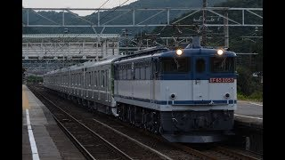 甲種輸送 EF65 2057号機+東京メトロ13000系(13108F) 柏原駅通過