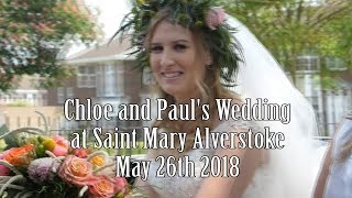 Chloe and Paul's wedding at Saint Mary's Alverstoke on May 26th 2018