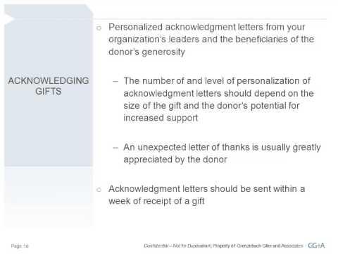 Donor Stewardship October 2012