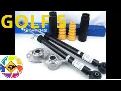 Golf 5 Замена задних амортизаторов и подушки  VW Golf 5