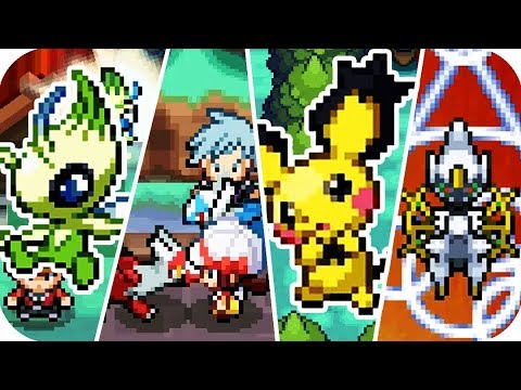 Pokémon HeartGold & SoulSilver - All Mythical Event-exclusive Pokémon