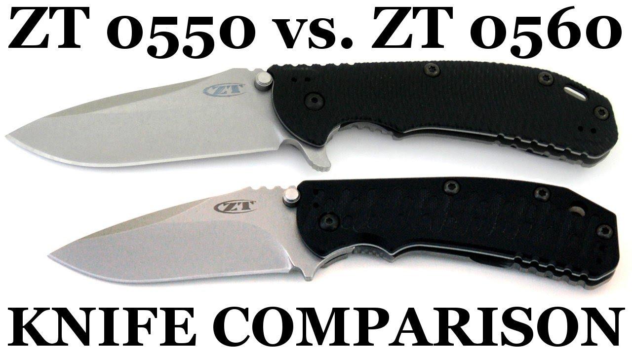 Knife Comparison: Zero Tolerance 0550 vs 0560