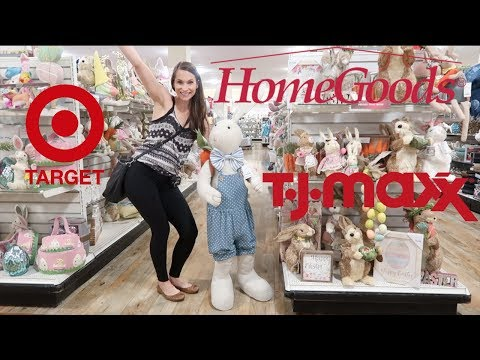 Shop With Me Trifecta!  Home Goods + TJ Maxx + Target!  Spring Decor + Try On + Desk Supplies!