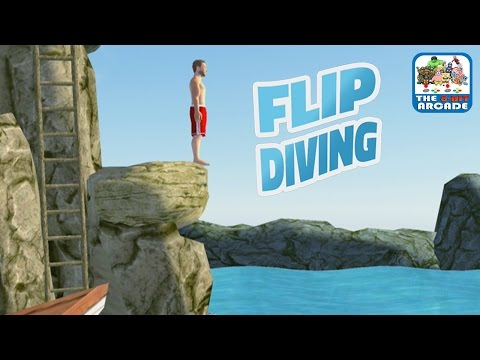 Flip Diving - Pull Off Frontflips And Backflips From The Cliffs (iOS/iPad Gameplay)
