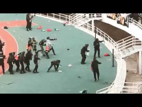 HOOLIGANS CURVA CHÉ RABAT (MOROCCO) VS POLICE | FAR # RSB [17/04/2019]