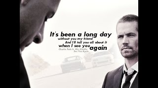 """Gambar cover A Tribute to Paul Walker - """"It's Never Goodbye"""""""