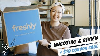 FRESHLY Unboxing & Review   Freshly Coupon Code   Is Freshly Worth it?