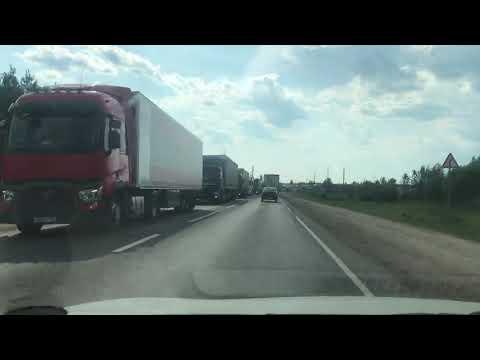 Обход г.Кстово 21.06.19 пробка в сторону Лысково на несколько км