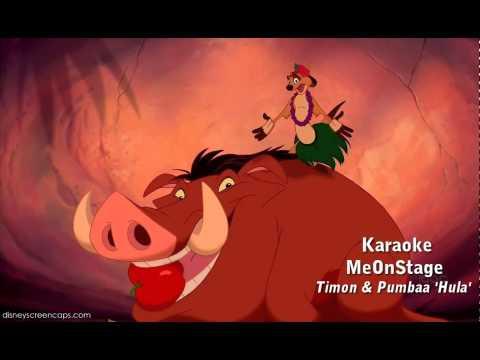 Lion King Timon en Pumba Hula Karaoke ~ MeOnStage