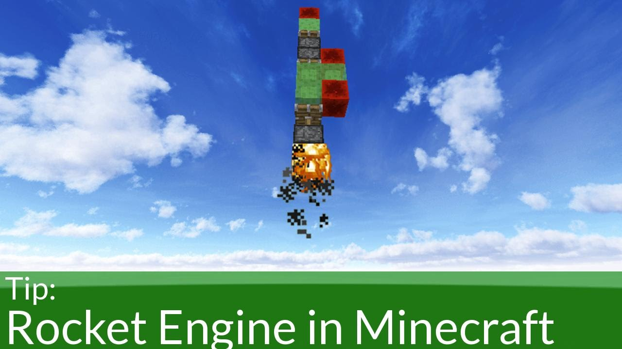 how to make a minecraft rocket ship
