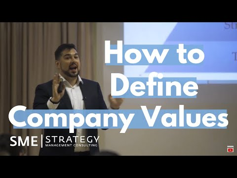 How to Define Values that Support Your Strategy