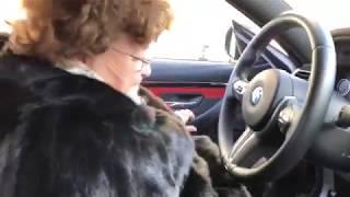 Бабушка за рулём BMW M4)))