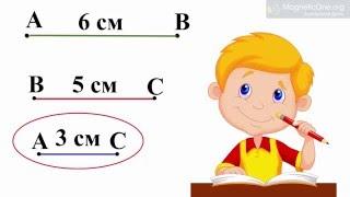 Урок 10 Математика 1 клас. Відрізок. Порівняння довжин відрізків