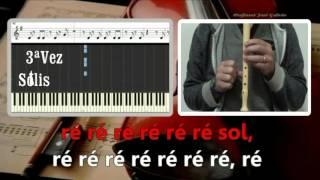 Samba de uma nota só, Karaoke para flauta, Educação Musical, Notas ré e sol