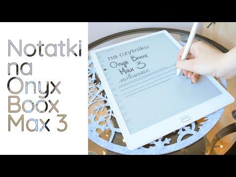 Rozpoznawanie pisma ręcznego- czyli notowanie na Onyx Boox Max 3